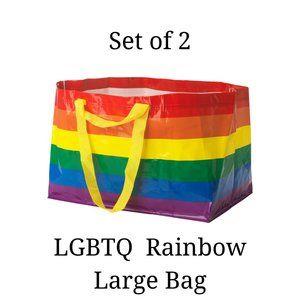 Set of 2 - LGBTQ IKEA Large Rainbow Shopping Tote